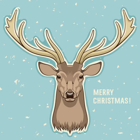 Merry Christmas card, vector illustration 向量圖像