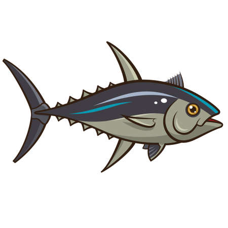 Vector illustration of a Tuna isolated on a white background