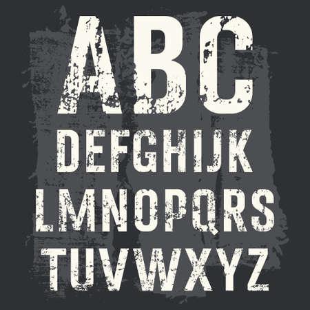 Grunge Alphabet set for your design