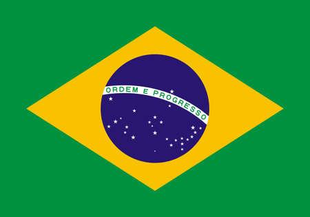 Vector illustration of a flag of Brazil for your design