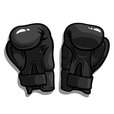 Vector illustration of black boxing gloves isolated on a white background Vector
