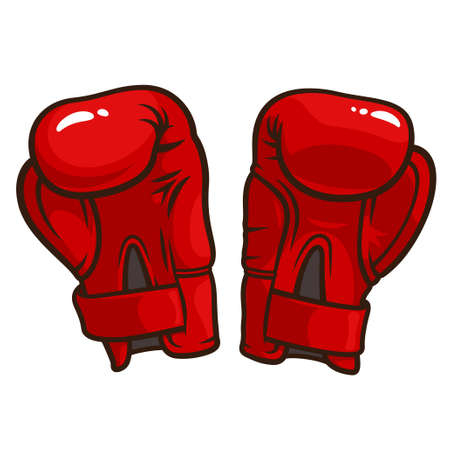 Vector illustration of boxing gloves isolated on a white background