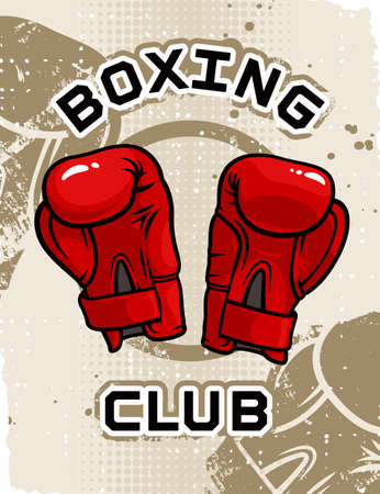 Boxing Club poster template Vector