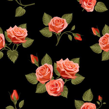 Floral seamless background. Vector illustration for your design