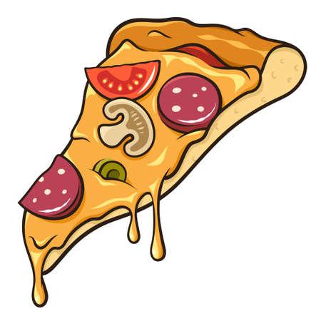 slice: Slice of pizza isolated on white