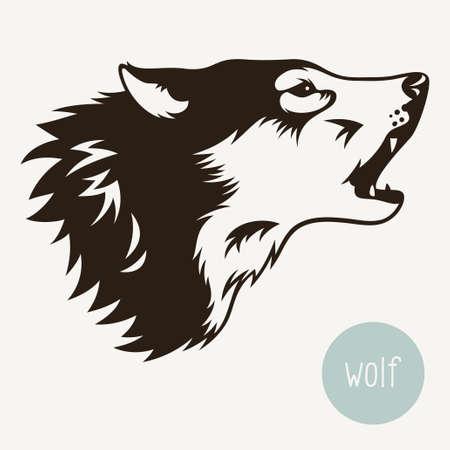 Vector illustration of wolf isolated on white Illustration