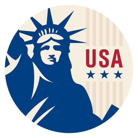 Travel sticker USA. Vector illustration. Luggage sticker