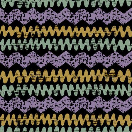 arte abstracto: Dibujado a mano pintado Modelo inconsútil étnico con efecto grunge. Patrón tradicional tribal africano. Utilice para el papel pintado, patrones de relleno, de fondo página web de la tela. Línea en zigzag y la raya.