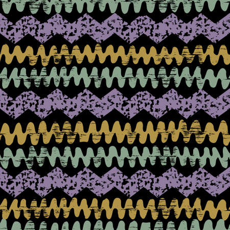 african fabric: Hand drawn painted ethnic seamless pattern with grunge effect. African tribal traditional pattern. Use for wallpaper, pattern fills, web page background, fabric. Zigzag and stripe line.