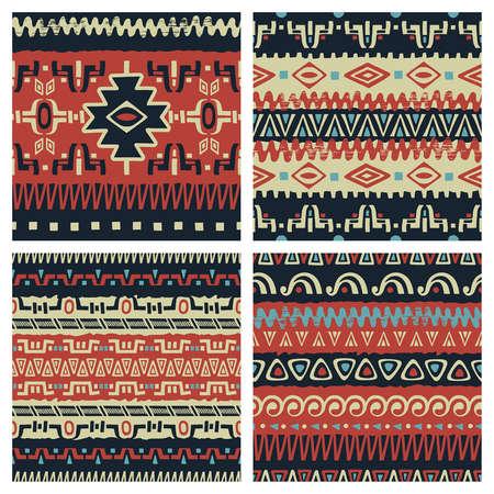 tribales: Conjunto de fondos transparentes de moda. Patrones étnicos tribales abstractas. Utilice para el diseño de la tela, patrones de relleno, de fondo página web