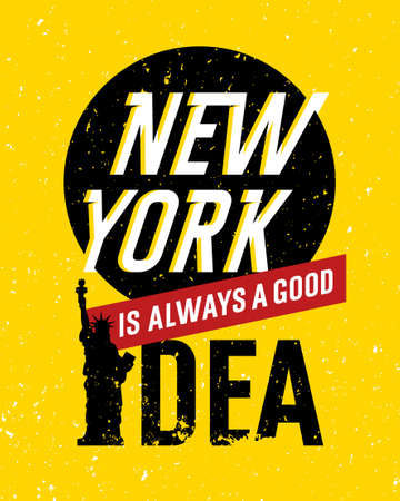 old new york: Motivational Quote Design. Typographic creative poster concept. Vintage hipster illustration. New York Illustration