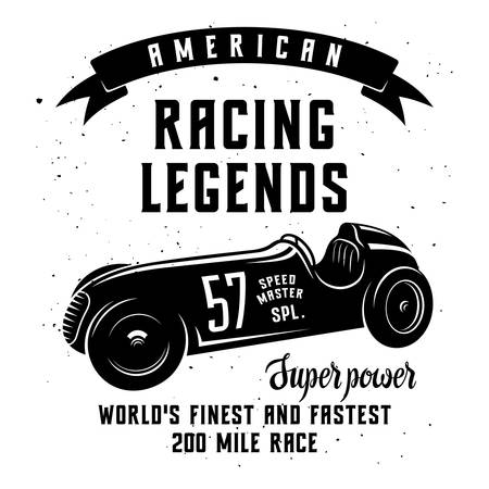 Racing Car t-shirt graphics  Speed Racer Graphic Tee  American car race vintage poster