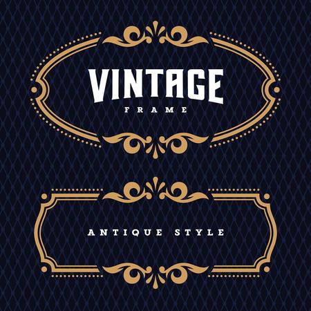Vintage frame antique / éléments de design décoratif / vecteur / modèle de carte de voeux ou d'invitation