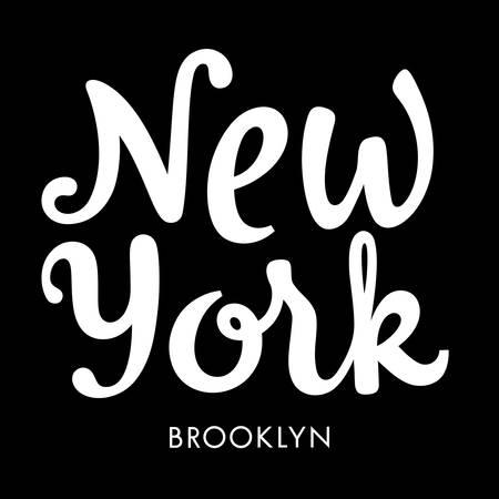 New York City Brooklyn typography  t-shirt graphic design  vectors  tee graphics