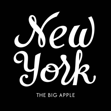 New York vintage calligraphic inscription  The Big Apple  t-shirt graphic design  vectors  tee graphics