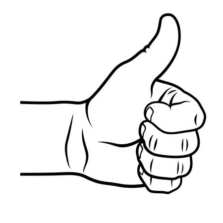 Thumb up gesture.