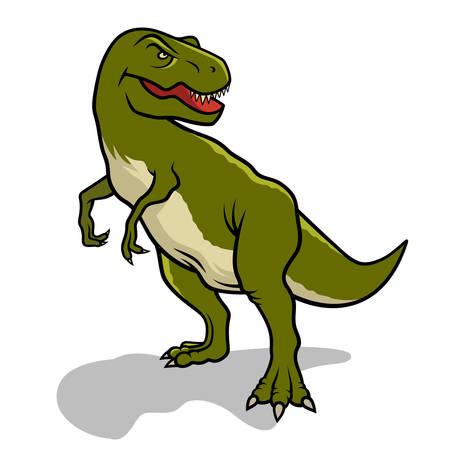 Dinosaur. Vector illustration. Tyrannosaurus Vector Illustration