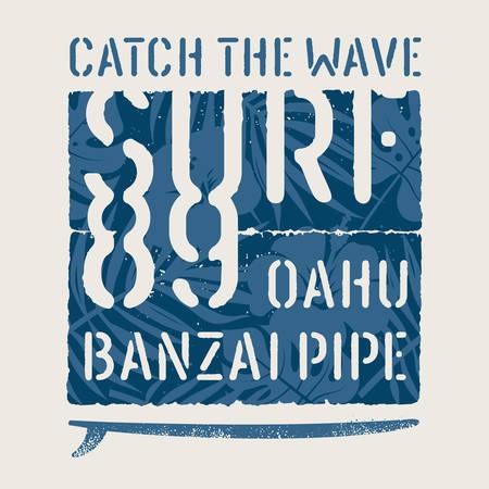 Surfing Hawaii t-shirt design vector illustration 矢量图像