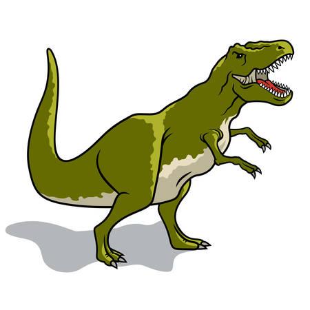 Dinosaur. Vector illustration. Tyrannosaurus Illustration