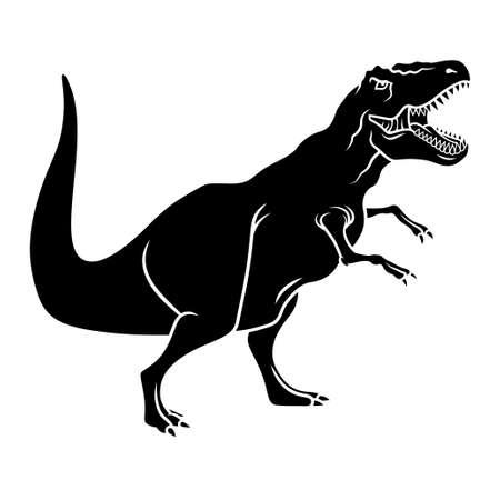 Dinosaur silhouette. Vector illustration. Tyrannosaurus Vektoros illusztráció