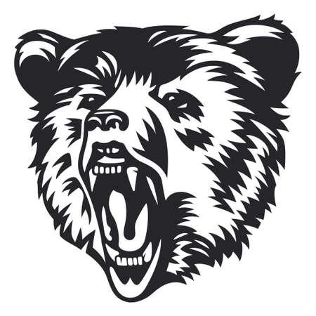 Bear Head Vector Illustration Design Illustration