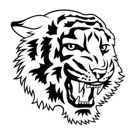 Tiger head vector illustration for t-shirt design Vektorové ilustrace