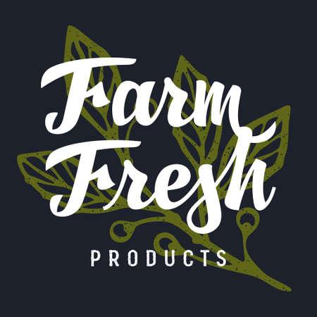 Farm Fresh handmade lettering for authentic design of butcher shop or farm market