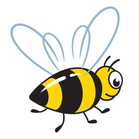 cartoon bee vector illustration on white background 向量圖像