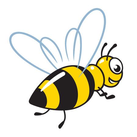 cartoon honey bee vector illustration