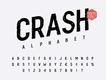 Grunge font. Rough stamp typeface. Grunge textured handmade alphabet. Vectors 向量圖像