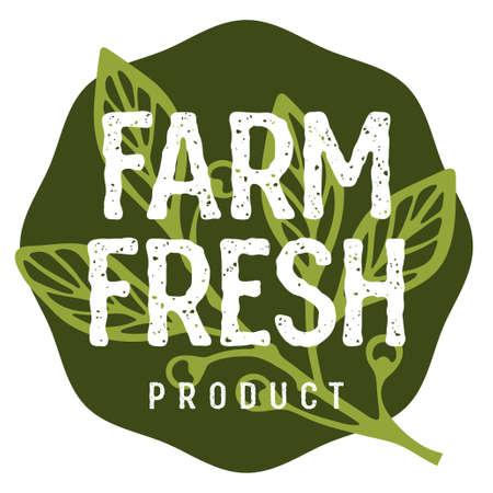 Farm Fresh lettering. Concept idea for authentic design of a Butcher shop or a Farm Market