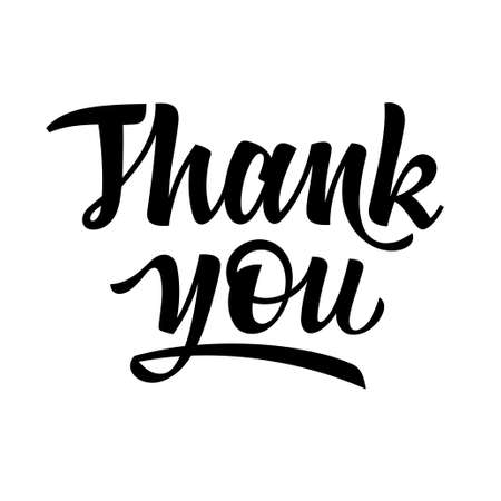 Thank you handwritten calligraphy lettering