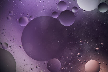 colorful water surface: abstract bubbles on a colorful water surface