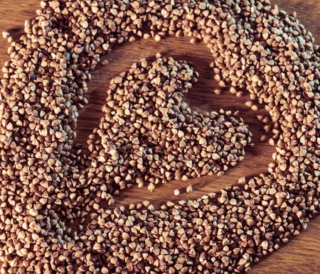 hape: buckwheat with heart hape inside