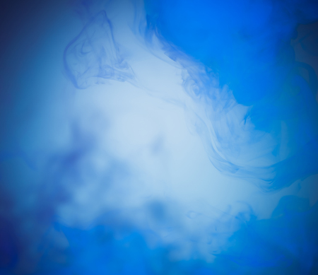 blue smoke on abstract background Stock Photo