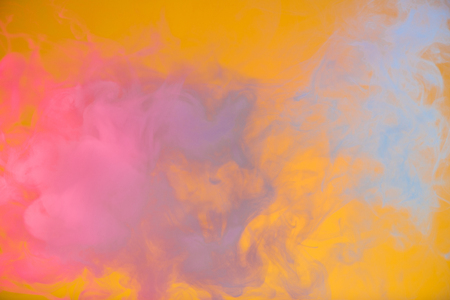 colorful smoke yellow on background