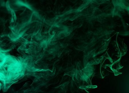 colorful aquamarine smoke isolated on black background Zdjęcie Seryjne