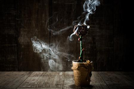 pot with coffee beans Zdjęcie Seryjne