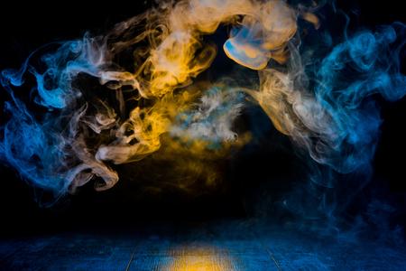yellow and blue smoke patterns Zdjęcie Seryjne