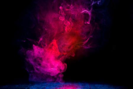 red and blue smoke patterns Zdjęcie Seryjne