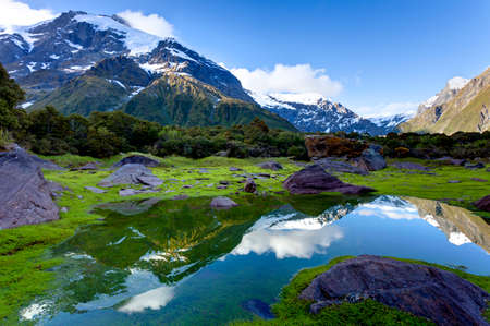 mountain reflections photo