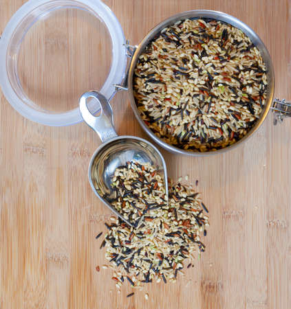 wild rice: Jar with wild rice