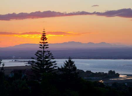 nelson: Sunset over Tasman Bay in New Zealand