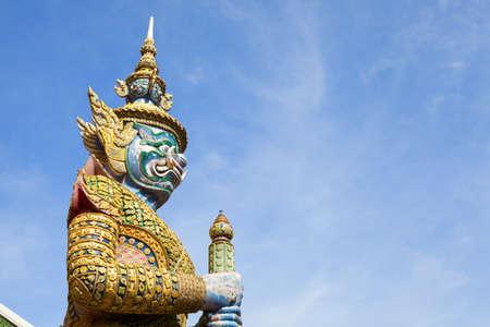 grand palace: Guardian Demon statue at Grand Palace in Bangkok, Thailand