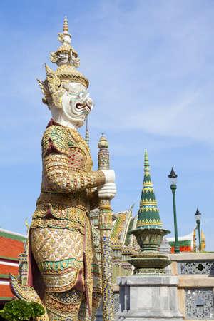 Guardian Demon statue at Grand Palace in Bangkok, Thailand  photo