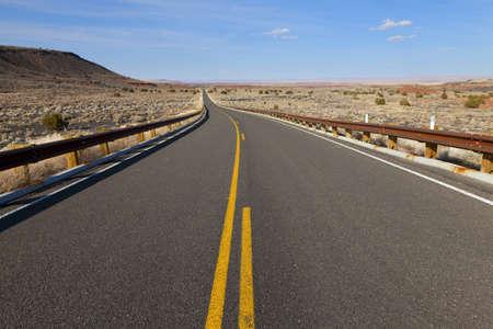 desert highway: Lonely desert highway