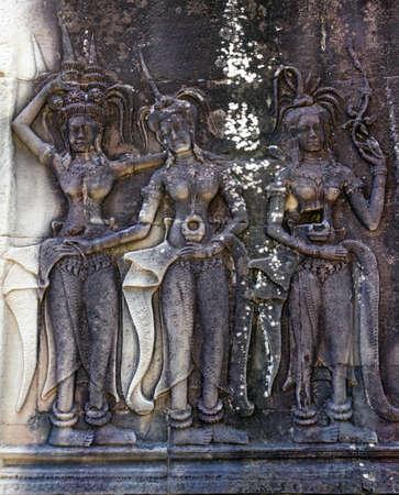Angkor Wat bas-reliefs photo