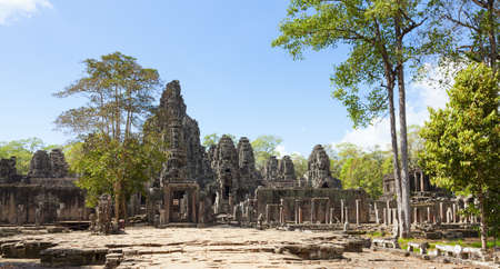 thom: Bayon temple in Angkor Thom, Cambodia Stock Photo