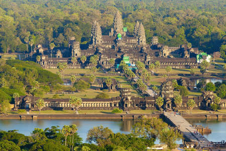 Vue a�rienne du site d'Angkor Wat Banque d'images - 15202282