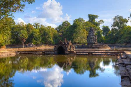 Neak Poan Temple, Cambodia Фото со стока